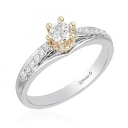 Enchanted Disney Fine Jewelry Princess Round Diamond Engagement Ring 1/2ctw - Size 7