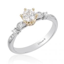 Enchanted Disney Fine Jewelry Princess Round Diamond Engagement Ring 5/8ctw - Size 7