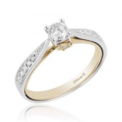 Enchanted Disney Fine Jewelry Princess Two-Tone Diamond Engagement Ring 1/2ctw - Size 7