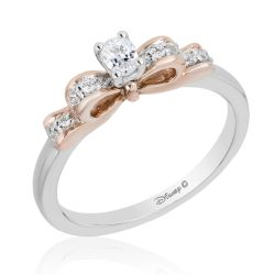 Enchanted Disney Vault Snow White Diamond Bow Engagement Ring 1/3ctw - Size 7
