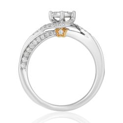 Enchanted Disney Vault Tinkerbell Round Diamond Engagement Ring 1/3ctw - Size 7