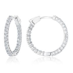 Exclusive REEDS ECONIC Lab Grown Diamond Inside Out Hoop Earrings 1 1/2ctw