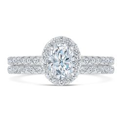 Exclusive REEDS ECONIC Lab Grown Diamond Oval Halo Engagement Ring 1 3/8ctw with IGI Grading Report