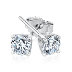 Exclusive REEDS ECONIC Lab Grown Diamond Solitaire Earrings 1/2ctw with GSI Grading Report