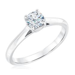 Exclusive REEDS Signature Round Diamond Solitaire Engagement Ring 1/2ct