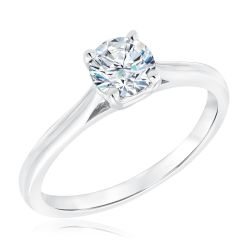 Exclusive REEDS Signature Round Diamond Solitaire Engagement Ring 3/4ct