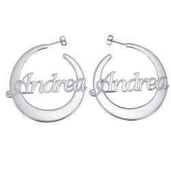 Alison and Ivy Flattened Hoop Earrings 40mm