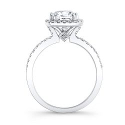 Forevermark Center of My Universe Cushion Diamond Halo Engagement Ring 1ctw