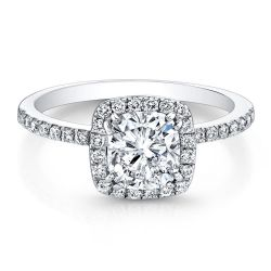 Forevermark Center of My Universe Cushion Diamond Halo Engagement Ring 3/4ctw