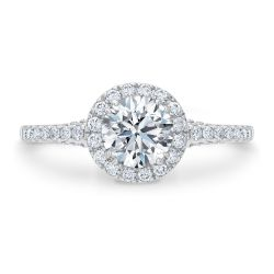Forevermark Center of My Universe Round Diamond Halo Engagement Ring 1 1/2ctw