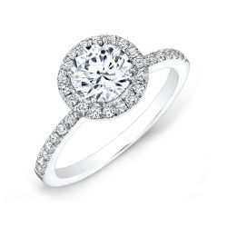 Forevermark Center of My Universe Round Diamond Halo Engagement Ring 7/8ctw