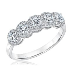 Forevermark Five Diamond Halo Anniversary Band 1ctw
