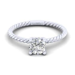 Gabriel & Co. Bobbi Round Solitaire Semi-Mount Engagement Ring 1/15ct