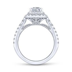 Gabriel & Co. Gardenia Diamond Double Halo Semi-Mount Engagement Ring 7/8ctw