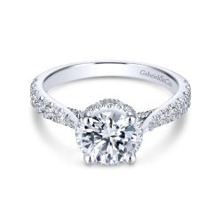 Gabriel & Co. Juno Diamond Round Semi-Mount Engagement Ring 3/4ctw