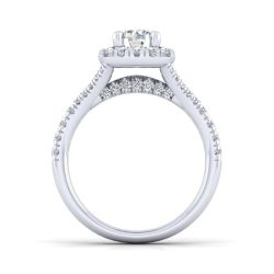 Gabriel & Co. Kennedy Diamond Round Halo Semi-Mount Engagement Ring 5/8ctw
