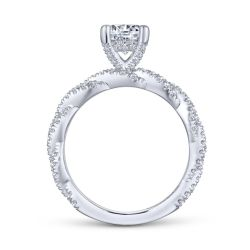 Gabriel & Co. Nia Diamond Round Semi-Mount Twisted Engagement Ring 1/2ctw
