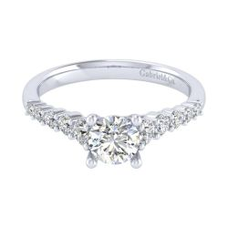 Gabriel & Co. Reed Diamond Round Semi-Mount Engagement Ring 1/2ctw