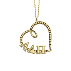Alison and Ivy Greek Heart Pendant 22x29mm