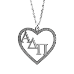 Alison and Ivy Greek Heart Pendant 23x25mm