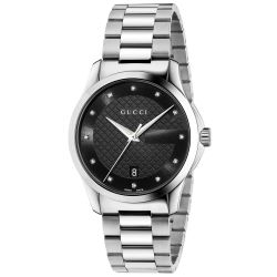 Gucci G-Timeless Black Diamond Dial Watch YA126456