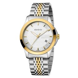 Gucci G-Timeless Two-Tone Silver Dial Watch - 38mm YA126409