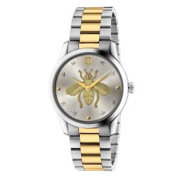 Gucci G-Timeless Two-Tone Stainless Steel Iconic Bee Watch YA1264131