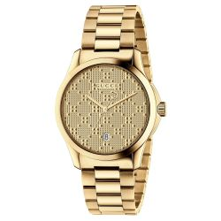 Gucci G-Timeless Gold-Tone Diamante Dial Watch YA126461