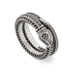 Gucci Garden Snake Two Band Wrap Ring - Size 11