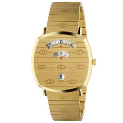 Gucci Grip GG Yellow Gold-Tone Watch, 38mm YA157409