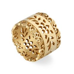 Gucci Yellow Gold Icon Blooms Ring - Size 6.75