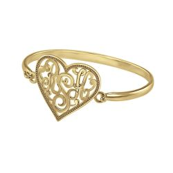 Alison and Ivy Heart Monogram Bangle