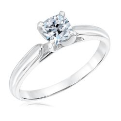 Heritage Cushion Diamond Solitaire Engagement Ring 3/4ct