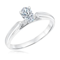 Heritage Oval Diamond Solitaire Engagement Ring 1/2ct