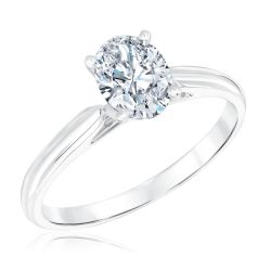 Heritage Oval Diamond Solitaire Engagement Ring 1ct