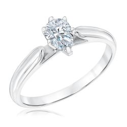 Heritage Pear Diamond Solitaire Engagement Ring 1/2ct