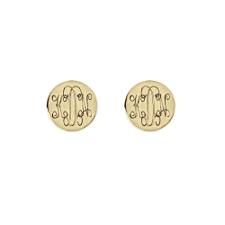 Alison and Ivy Interlocking Monogram Stud Earrings 10mm