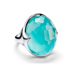 IPPOLITA Silver Rock Candy Prince Ring in Turquoise Doublet - Size 7