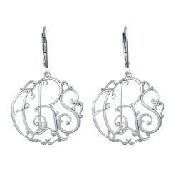 Alison and Ivy Vine Monogram Leverback Earrings 25mm