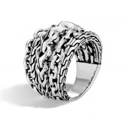 John Hardy Classic Chain Link Sterling Silver Ring