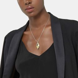 John Hardy Classic Chain Two-Tone Wave Hammered Pendant Necklace