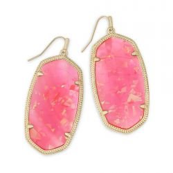Kendra Scott Danielle Statement Earrings in Iridescent Coral Illusion