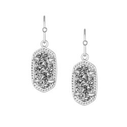 Kendra Scott Earrings, Silver Tone Lee in Platinum Drusy