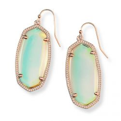 Kendra Scott Elle Earrings in Dichroic Glass, Rose Gold-Plated