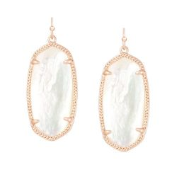 Kendra Scott Elle Ivory Mother of Pearl Earrings in Rose Gold Plated