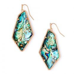 Kendra Scott Emilia Drop Earrings in Abalone Shell, Rose Gold-Plated