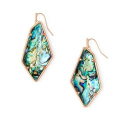 Kendra Scott Emmie Drop Earrings in Abalone Shell, Rose Gold-Plated