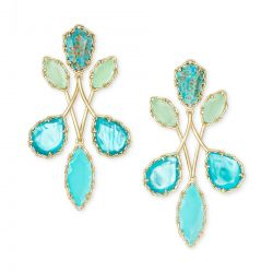 Kendra Scott Gwenyth Statement Earrings in Blue Mix