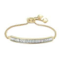 Kendra Scott Jack Chain Bracelet in Clear Crystal, Gold-Plated