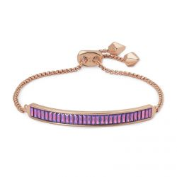 Kendra Scott Jack Chain Bracelet in Pink Raspberry Crystal, Rose Gold-Plated